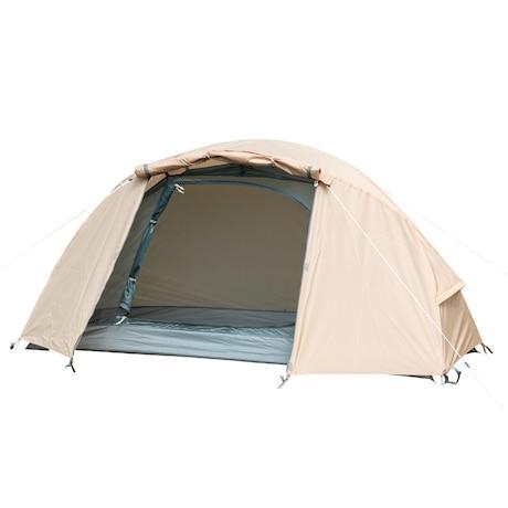 テント ツーリング 1~2人用 ソロドームワンベージュ BDK-08B 耐水圧3000mm 宿泊 簡単設営 軽量