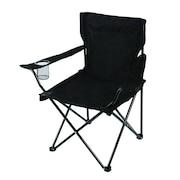 アウトドア チェア 折りたたみ椅子 LUCKY TIME CHAIR WE23DC29 BLKバーベキュー キャンプ スチール 黒 ブラック カップホルダー