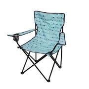 アウトドア チェア 折りたたみ椅子 LUCKY TIME CHAIR WE23DC29 BLUバーベキュー キャンプ スチール 青 ブルー カップホルダー