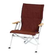 チェア 折りたたみ椅子 ローチェア30 LV-091BRバーベキュー キャンプ アルミ 茶色 ブラウン 収納ケース