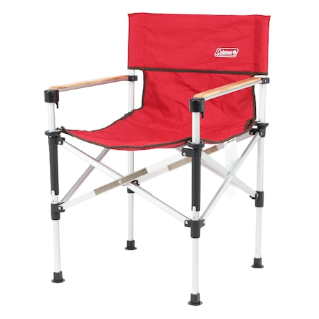 チェア 折りたたみ椅子 キャンプ用品 イス ツーウェイキャプテン 2000031282 レッドバーベキュー キャンプ アルミ 赤 高さ調整