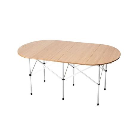 テーブル 折りたたみ キャンプ おうち時間 フォールディングテーブルオーバル竹 LV-231