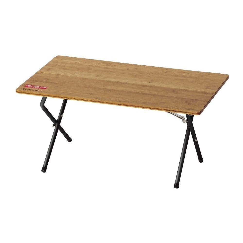 テーブル 折りたたみ ワンアクションローテーブル竹 ブラック FES-131