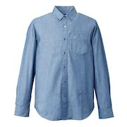 M SCORONR ボタンダウンシャツ WE27JH05サックス