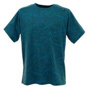 tシャツ 半袖 【海外サイズ】ジャカード メッシュ クルー ショートスリーブ MIV01765-6338