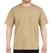 半袖Tシャツ ショートスリーブスモールロゴポケットティー NT321003X KT シンプル ベージュ ワンポイント 胸ポケット