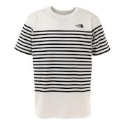 半袖Tシャツ ショートスリーブパネルボーダーTシャツ NT32137 W