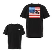半袖Tシャツ ショートスリーブナショナルフラッグTシャツ NT32145 K