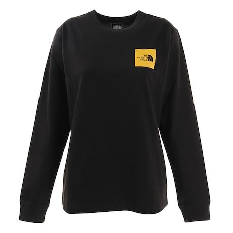 長袖Tシャツ ロンT ロングスリーブスクエアロゴティー NTW82136 K
