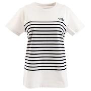 パネルボーダー tシャツ 半袖 NTW32063 W