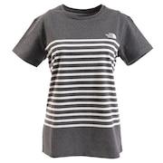 パネルボーダー tシャツ 半袖 NTW32063 ZC