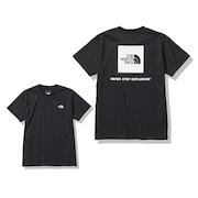 バックスクエアー ロゴ 半袖Tシャツ NTW32144 K