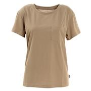半袖Tシャツ ショートスリーブ ポケット NTW31935 WB シンプル 胸ポケット ベージュ