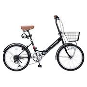 20インチ折り畳み自転車 オートライト M-204MERRY BLK