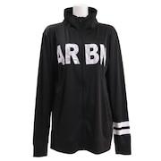 ラッシュガード メンズ ARBN長袖ロゴ ジップシャツ AB99MW1098BLK