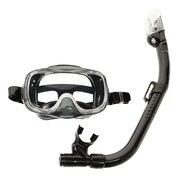 シリコーン製 マスク&スノーケル 2点セット 子供用 20RC0109 BKBK