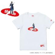 キングダム キッズ SHIN (信) ロゴ 半袖Tシャツ SL-KINGDOM201-wht