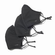 スポーツマスク エブリディ パフォーマンス マスク 洗えるマスク 3枚セット ブラック LAO13098 BK