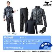 2021年新春福袋 ミズノ ゴルフ メンズ ブレスサーモ体感4点セット 52JH055008 L