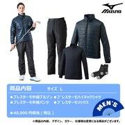 2021年新春福袋 ミズノ ゴルフ メンズ ブレスサーモ体感4点セット 52JH055014 L