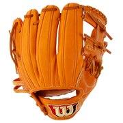 野球 硬式 グラブ 革ソフトボール用 ウイルソンスタッフ デュアル 内野手用 D6 収納袋付 WTAHWSD6H83