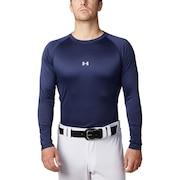 野球 アンダーシャツ スピードテック フィッティド ロングスリーブ クルーネック 長袖 インナー シャツ 1331487 ネイビー