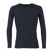 野球 抗菌 高機能アンダーシャツ 長袖 丸首 UVカット 吸汗速乾 防臭 723PG1ES3980 黒 コンプレッションインナー