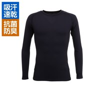 野球 抗菌 高機能アンダーシャツ 長袖 丸首 UVカット 吸汗速乾 防臭 723PG1ES3980 紺 コンプレッションインナー