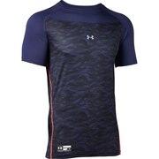 野球 アンダーシャツ 半袖 メンズ テックフィッティド グラフィック インナー シャツ 1354237 MDN BB ネイビー
