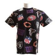 Tシャツ メンズ NFL総柄 半袖Tシャツ FM01-NFL-8S04-BLK 【野球 スポーツ ウェア 一般】