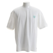 Tシャツ メンズ 半袖 ニューヨーク・ヤンキース オーバーサイズ エンブレム MM01-NYK-8S09-WHT 【野球 スポーツ ウェア 一般】