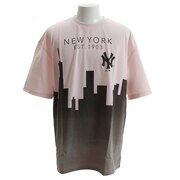 Tシャツ メンズ 半袖 ニューヨーク・ヤンキース オーバーサイズ ニューヨーク MM01-NYK-8S11-PNK 【野球 スポーツ ウェア 一般】