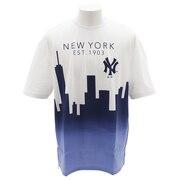 Tシャツ メンズ ビッグNYシャドー 半袖Tシャツ MM01-NYK-8S11-WHT 【野球 スポーツ ウェア 一般】