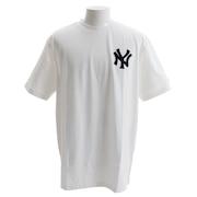 Tシャツ メンズ 半袖 ニューヨーク・ヤンキース フロッキー MM01-NYK-8S24-WHT 【野球 スポーツ ウェア 一般】