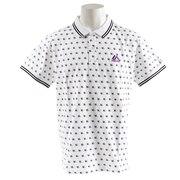 ヤンキース 総柄 ポロシャツ MM04-NYK-8S03-WHT 【野球 スポーツ ウェア 一般】