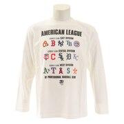 Tシャツ メンズ 長袖 アメリカンリーグ プリントロング MM03-ML-9F02-WH 【野球 スポーツ ウェア 一般】