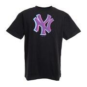 野球ウェア ニューヨークヤンキース アナグリフTシャツ MM01-NY-0S04-BK