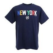 野球ウェア ニューヨークヤンキース  バット&ハットロゴTシャツ MM01-NY-0S10-NV