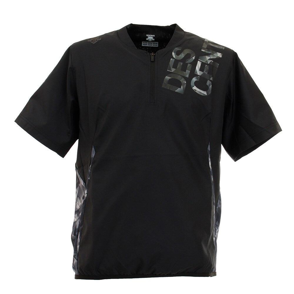 【デサント限定】 半袖ピステシャツ DX-A0264XB BK