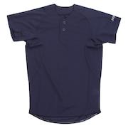 野球 ユニフォーム ジュニア キッズ 2ボタンメッシュシャツ 練習着 724G9ES4046J ネイビー