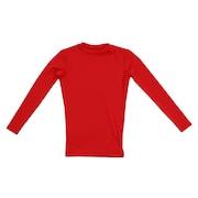 野球 アンダーシャツ ジュニア ストレッチ 長袖Tネック インナー シャツ 724G6ES4171 赤