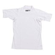 野球 アンダーシャツ 半袖 ジュニア RT ハイネック ショートスリーブ インナー シャツ UWRJDYS-003 白