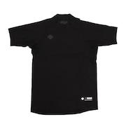 野球 アンダーシャツ ジュニア リラックスフィットシャツ ハイネック半袖アンダーシャツ JSTD-720 BLK