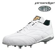 野球 スパイク プロエッジ TRYTECソールTT-L ESF3013-1010 白スパイク