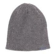 【多少の傷汚れありの為大奉仕】リブ編ビーニーキャップ AAC8F02-GRY 防寒 野球 冬用 ニット帽