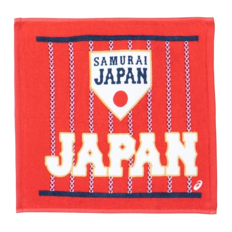 侍JAPAN ハンドタオル 野球 日本代表 2022 応援グッズ BAQ753.600 赤 レッド