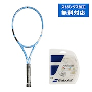 硬式用テニスラケット 17ピュアドライブ サイズ2 + 硬式テニスストリング アディクションN125 (カ)
