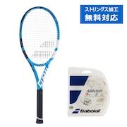 硬式用テニスラケット 17ピュアドライブ チーム サイズ2 + 硬式テニスストリング アディクションN125 (カ)