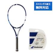硬式用テニスラケット 18ドライブ G サイズ2 + 硬式テニスストリング アディクションN125 (カ)