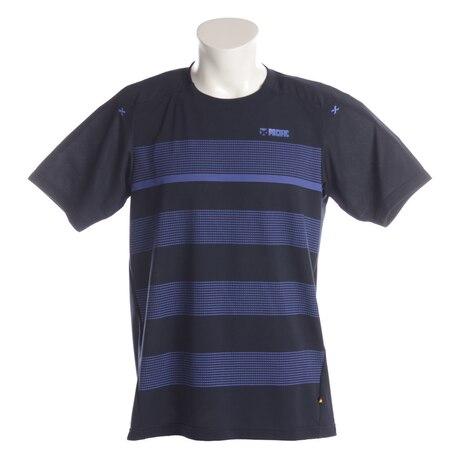 【傷汚れ可能性有りの為大奉仕】テニスウェア メンズ 吸汗速乾 ゲームシャツ PT18SM401 NVY